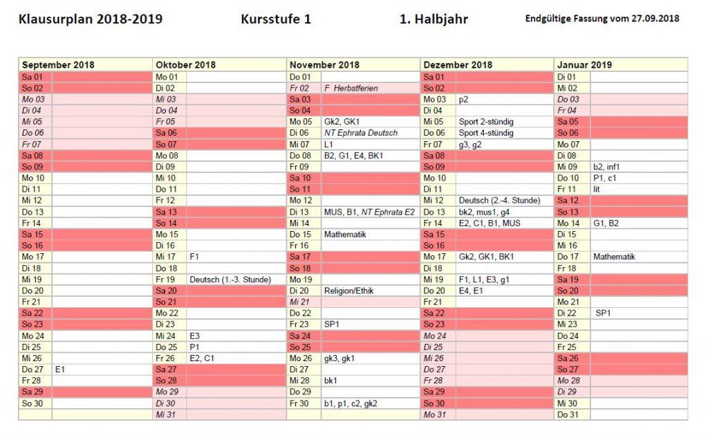 Aushang_Klausurplan KS 1_19_1 2018-2019