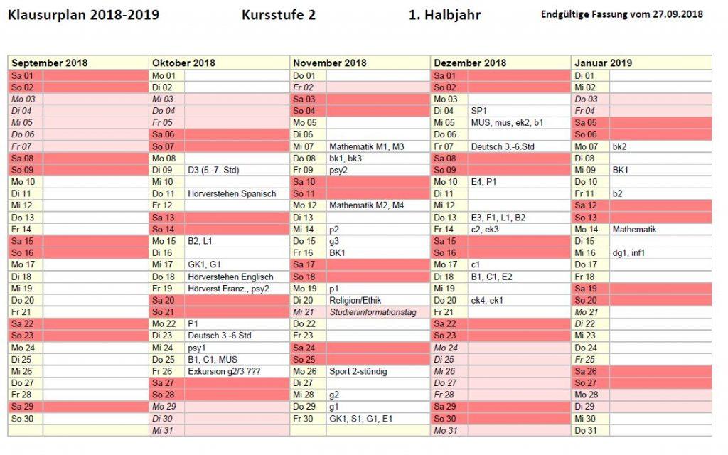 Aushang_Klausurplan KS 2_19_1 2018-2019
